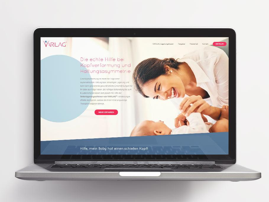 Varilag-Webseite nach dem Re-Branding